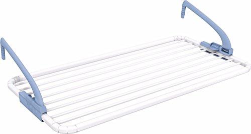 Gimi ghibli stendibiancheria da balcone, stendino appendibile, antiruggine, ottimo per piccoli capi, spazio di stenditura 10 m, in resina 100%, 99 x 54 x 26 cm