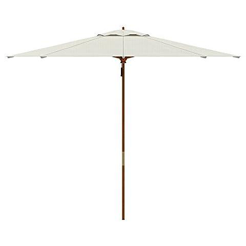 Parasols Blanc - PARAMONDO Parakoala parasol en bois, 3m, rond,