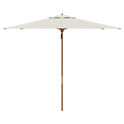 PARAMONDO Parakoala parasol en bois, 3m, rond, blanc