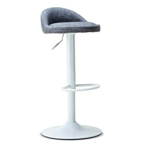 Seeksung sedia, sgabelli da bar jx sgabello, ascensore, metallo creativo colazione sgabelli minimalista moderno molle dell'ammortizzatore sgabello alto-cloth - grey