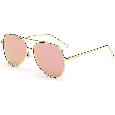 Botetrade Donna Nuova lega polarizzati Aviator Occhiali da sole a specchio bicchieri per Guida Pesca Vintage Lady Shades