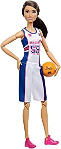 Barbie Fashionista Made To Move, muñeca jugadora de baloncesto con accesorios (Mattel FXP06)