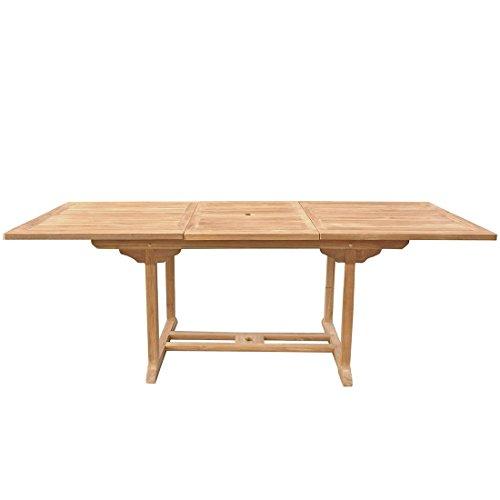 Beliani Table de Jardin en Bois rectangulaire avec rallonges Java