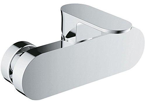 Clever Selene – Grifo de ducha monomando, efecto espejo, incluye telefono, cable flexible y soporte pared
