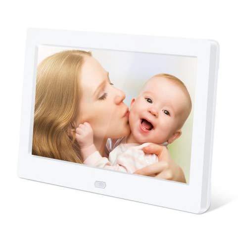 10 Zoll Digitaler Bilderrahmen Elektronischer Fotorahmen 1280 * 800 IPS Display Mit automatischer Drehung,Fernbedienung,Steckplätzen für MP3- /HD-Videoplayer/E-Book/Kalender/Wecker,USB- und SD-Karten