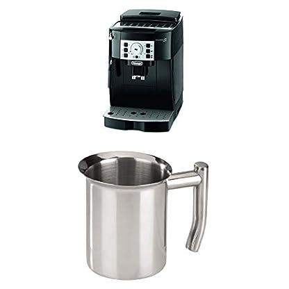 DeLonghi-Magnifica-S-ECAM-22110B-Kaffeevollautomat-schwarz-Xavax-Milchknnchen-aus-Edelstahl-400-ml-silber