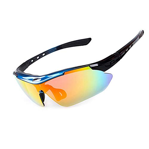 Hete-supply Sonnenbrillen Damen UV400, Reitbrillen polarisierte Sport Sonnenbrillen Fahren Brille Shades für Männer Frauen Radfahren Laufen mit Mode Sport Stirnband