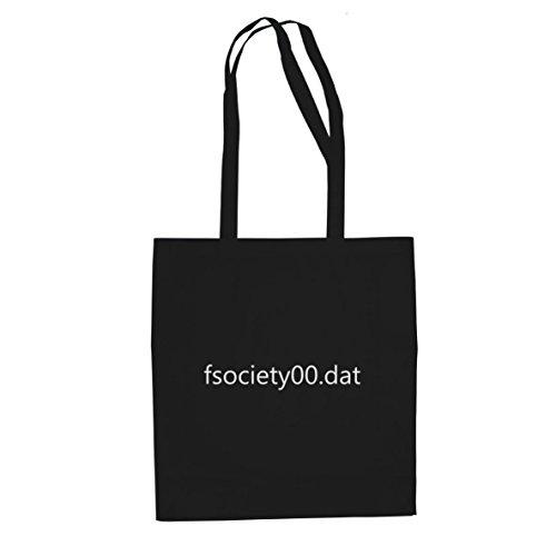 fsociety00.dat - Stofftasche / Beutel, Farbe: schwarz (Fsociety Kostüm)