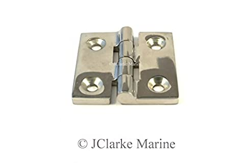 Pack of 1 - 50mm butt hinge made from marine grade stainless steel A4 316 hatch pull ring