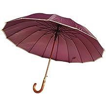 Paraguas XXL 134 cm clásico de 16 Varillas Antiviento Gran tamaño Apertura automática ...