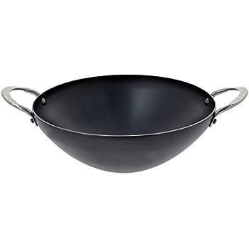 de buyer carbone plus wok sheet metal diameter 28. Black Bedroom Furniture Sets. Home Design Ideas