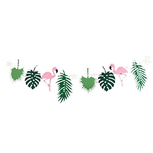 Culer Filz Flamingo Bunting Banner Hawaii-Blätter-Party-Tropische Party-Foto-Prop Geburtstag Garlands Dekorationen Party Supplies-Partei-Dekoration