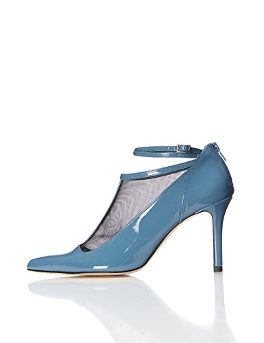 find. Schuhe Damen Pumps in Lackleder-Optik , Blau (Blue), 40 EU