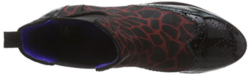 Giudecca JY1508-1 Damen Chelsea Boots Mehrfarbig (s6 red/black)