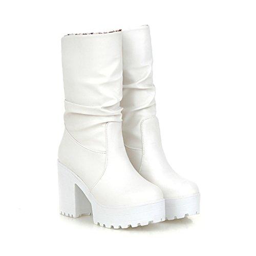 ZQ@QXregalo di Natale Europei e Americani, scarpe da donna white
