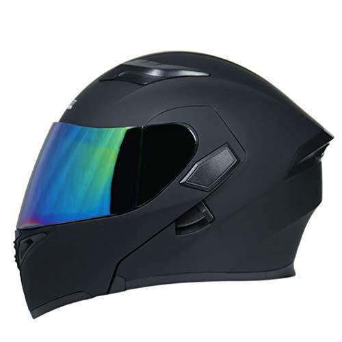 Erwachsene Doppellinse Motorradhelm UV Schutz Anti Fog Flip Up Motorradhelme für Motocross Racing Moto Caps (Bettbezug Vollständige)