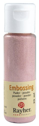 RAYHER 28000258, Embossing-Puder, 20 ml Flasche, deckend, rose