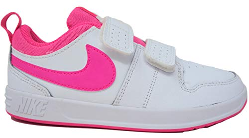 Nike Unisex-Kinder PICO 5 (PSV) Sneaker, Weiß (White/Pink Blast 102), 33 EU (Kleinkind Nike Basketball Schuhe)