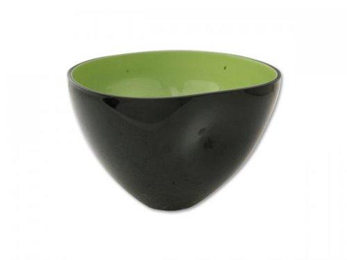 Design Deko Schale Anna 2, schwarz/grün