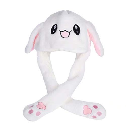 Fandoria Damen/Herren Plüsch Tier Hut Funny Cap beweglich/Jumping Kaninchen Ohr Mütze Kreatives Geschenk ()