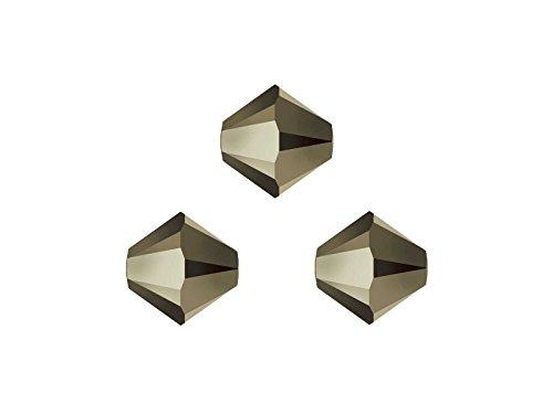 Creative-Beads Swarovski Perlen, Doppelkegel, konisch, bicone, 5328, 4mm, 50 Stück, metallic light gold 2x, zum selbermachen von Ketten, Armbänder und Ohrringe, aus mehr als 50 Farben auswählen (Metallic-perle Halskette)
