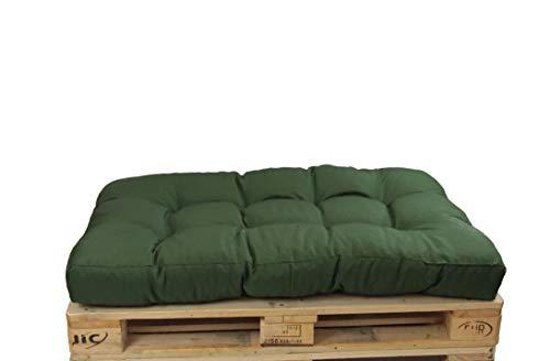 HERLAG Palettenkissen Basic (Sitzpolster, Farbe grün, UV beständig, pflegeleicht, Maße 120x80x15 cm,) P207020-2187