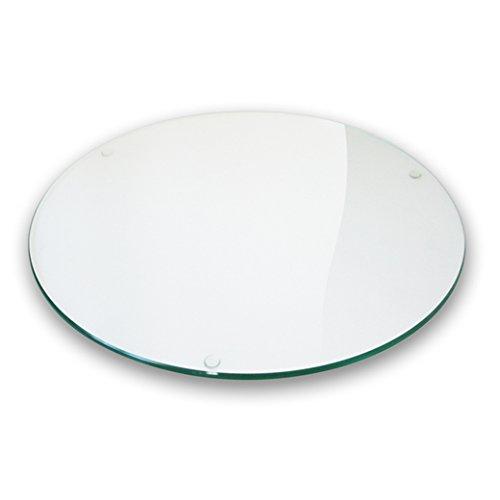 Plateau en verre rond, panneau en verre, diamètre 50 cm