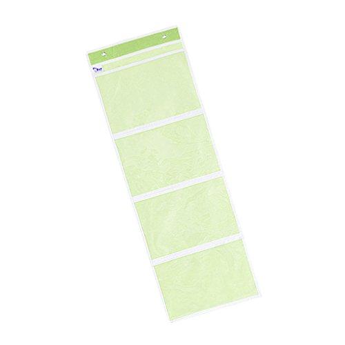 D DOLITY Hängeaufbewahrung Hängeregal Hängeorganizer Seitentasche Stoffschrank für Bücher - Grüne 4 Slots