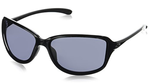 Oakley Damen Sonnenbrille Cohort, Schwarz (Metallic Black/Grey), 62