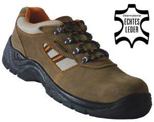 Arbeitsschuhe Sicherheitsschuhe Schuhe LC207 braun Leder S1 P(Durchtrittschutz) Gr. 38 39 40 41 42 43 44 45 46 47