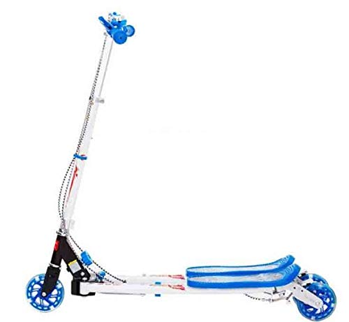 YAzNdom Kinderfrosch-Roller dreirädrige Pedalschere verdrehte Schwingenauto (Color : Blau)