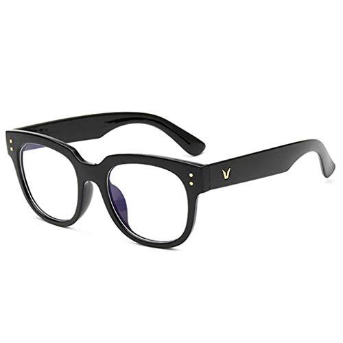 ZFRzxc Große Box Schwarz Dicken Rahmen Flachspiegel Anti-müdigkeit Abnehmen Brille Unisex