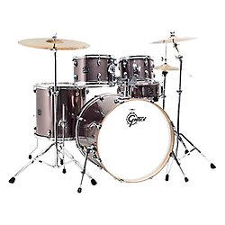 "Gretsch Energy 20"" Drum Kit Steel Grey with Hardware & Paiste 101 Cymbal Set"