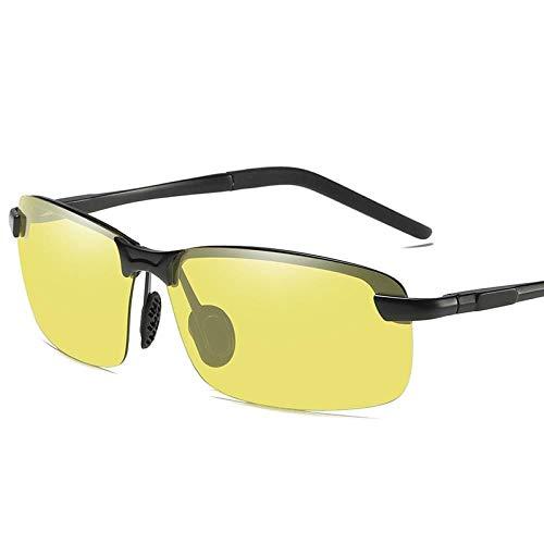 DuangBou Occhiali Sole Sportivi Goggle Luminoso Metallo Solido Spiaggia di Sabbia Lavoro Tuta Protettiva Scolorimento Nero Giallo