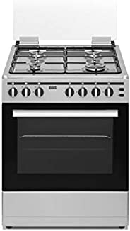 HAAS Gas Cooker, 60x60, 4Burner, Stainless steel with sides - HC660T