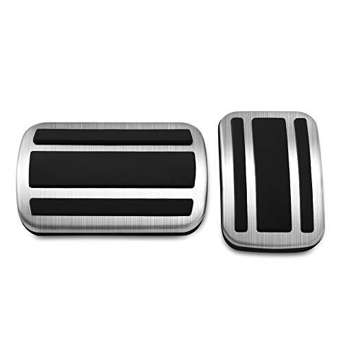 TAABOBO 2 Pz In Acciaio Inox Car Gas Freno Acceleratore Pedale Pad Copertura AT Per Peugeot 3008 GT 5008 2017 2018 Senza Drill antiscivolo