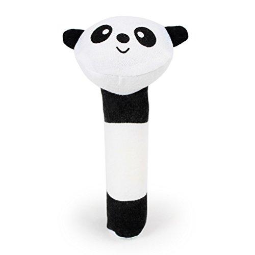 UEETEK Giocattolo peluche sonori per animali domestici Peluche da masticare per cucciolo a forma di panda