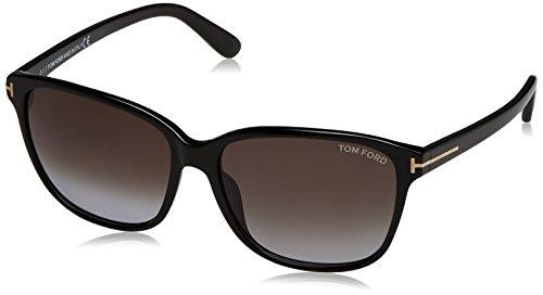 Tom Ford Damen FT0432 01B 59 Sonnenbrille, Schwarz,