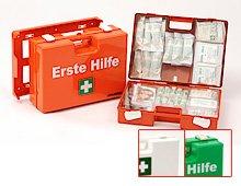 erste hilfe auto set ErsteHilfeKoffer SAN DIN 13169 orange Verbandkasten