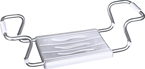 Wenko secura 17930100 sedile per vasca da bagno, allungabile, portata 150 kg, in acciaio e plastica, 55-65 cm x 18cm x 26 cm, colore: bianco