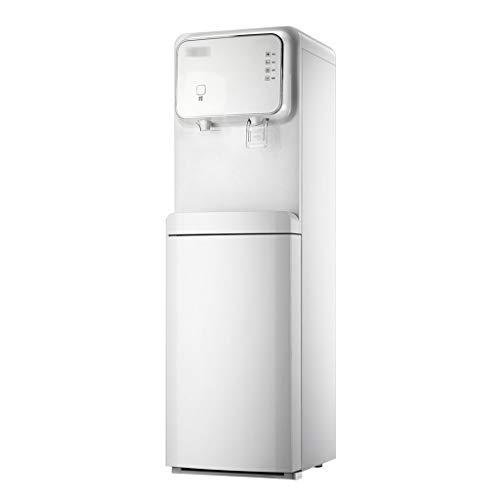 Kühler & Wasserspender Wasserkühler Bürowasserbereiter vertikaler Wasserspender eiswarm unter dem versteckten Eimer (Color : Weiß, Size : 31 * 32 * 103.5cm)