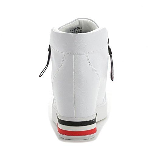 Mulheres De Altas Branco Das Superiores Lazer Sapatilhas Sapatos HA8wtaq