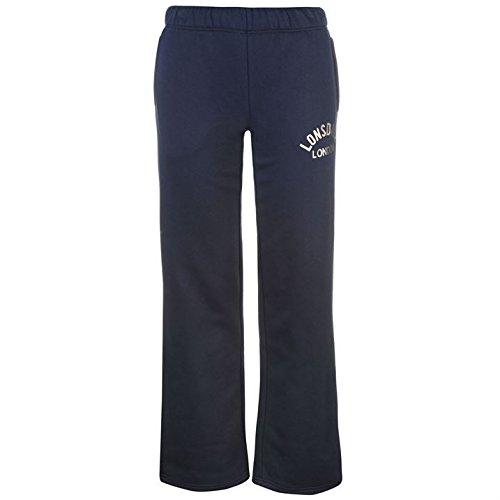 Lonsdale Femme Pantalon De Survetement Bas De Sport Jogger Running Gym Elastique Bleu Marine