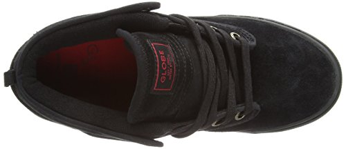 Globe Motley Mid, Baskets mode mixte adulte Nero (Schwarz (20090 black/red))