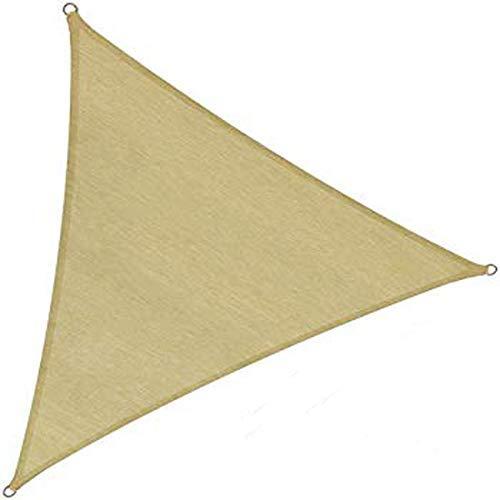 PAPILLON 8091180-Vela d'ombra per Giardino, Triangolare, 3,6x 3,6x 3,6m, Colore: Beige