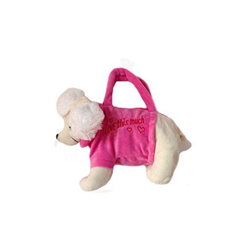 Mädchen Geldbörse Totes Handtasche Weicher Plüsch Tiermodell Spielzeug Reißverschluss - Pudel
