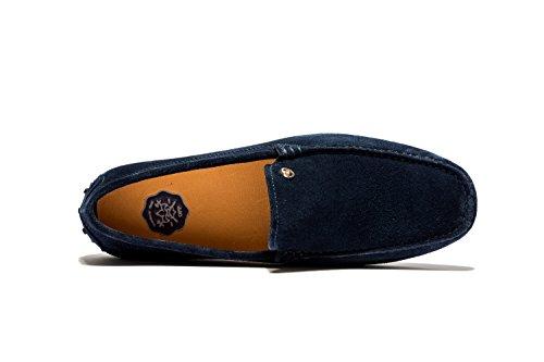Retro Moccassins Loafers de Loisirs Chaussures Homme Bleu