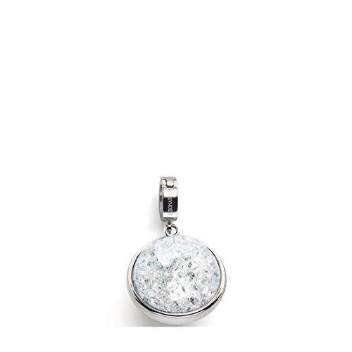 JEWELS BY LEONARDO DARLIN'S Damen-Anhänger Snowball mit Maxi-Clip, Edelstahl mit weißer Kristallperle, CLIP & MIX System, Größe (B/H/T): 23/40/20mm