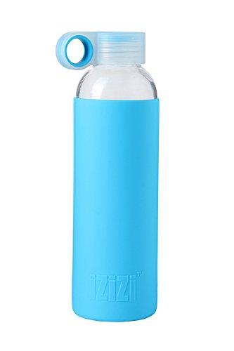 Izizi Glass Water Bottle, 500ml, Blue