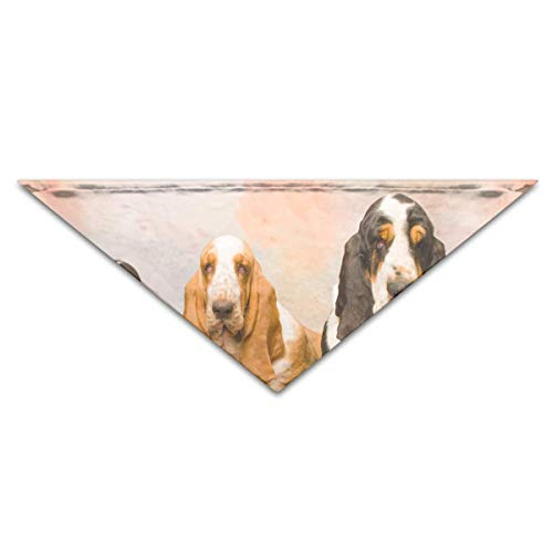 Pet Kostüm Dog Hound - European Basset Hounds Turban Triangle Scarf Bib Scarf Accessories Pet Cat and Baby Puppy Saliva Dog Towel